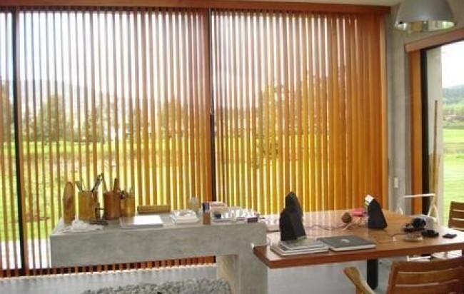 a abandas verticales madera